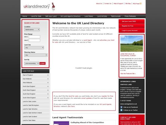 Land for Sale UK Directory